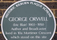 George Orwell Plaque in London