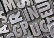 Vintage metal letterpress type